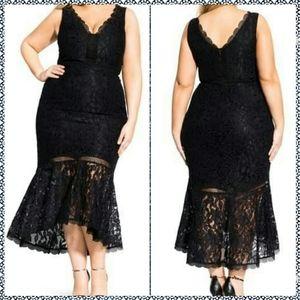 City Chic Ravishing Mermaid Dress Sz.XXL (24w-26w)